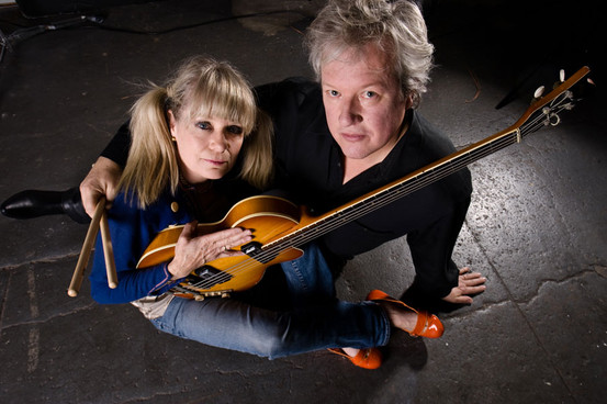 Chris and his musical partner/wife Tina Weymouth. Via performermag.com
