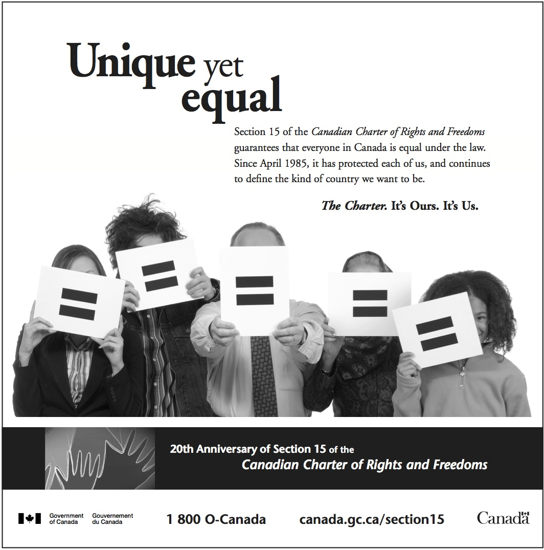 Government of Canada Equal Rights Ad English
