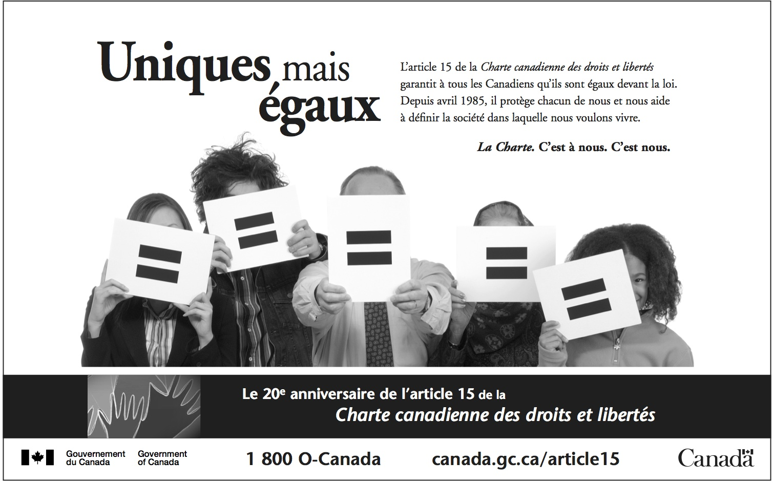 Government of Canada Equal Rights Ad French