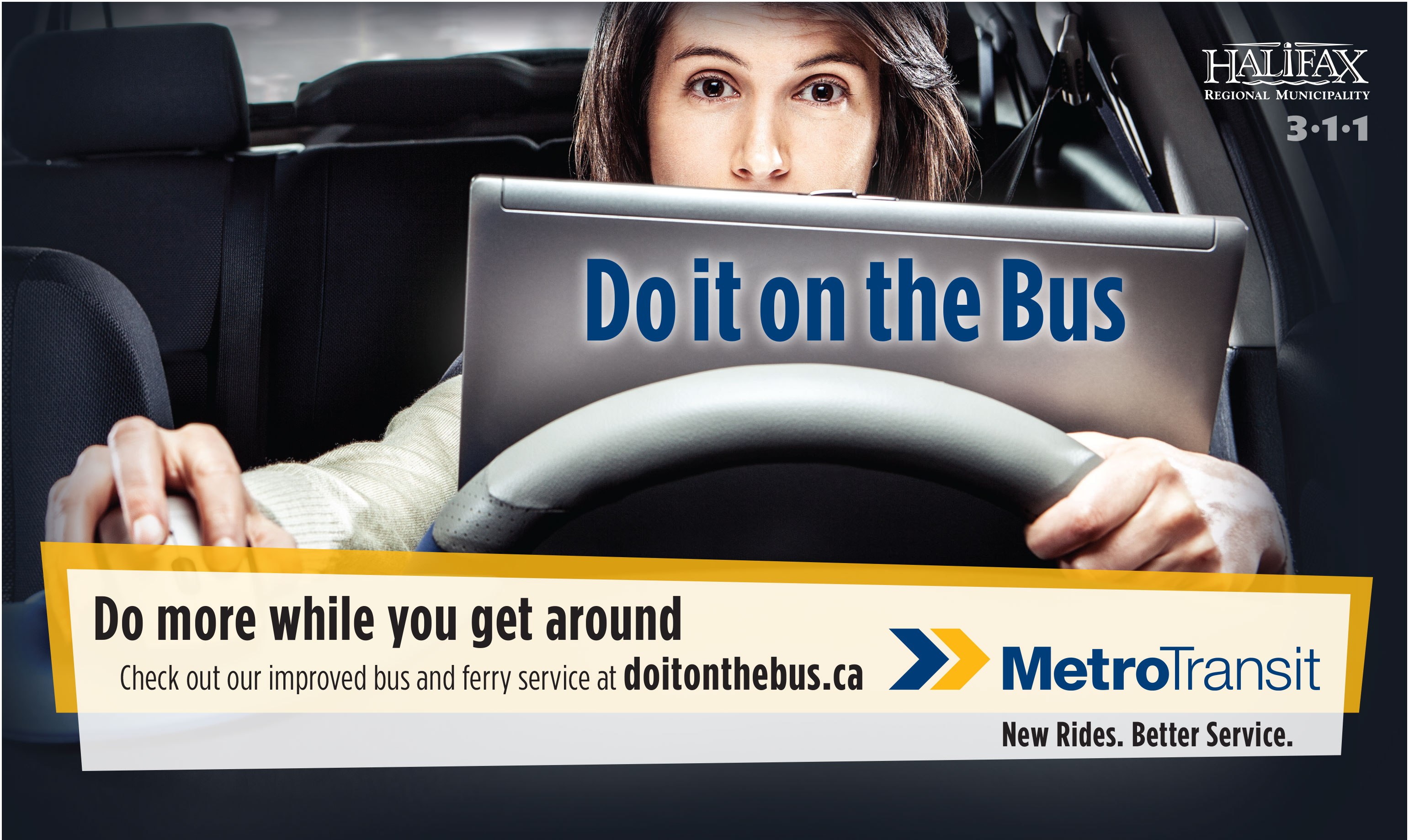 Do It On The Bus Ad for Metro Transit - Transit Marketing