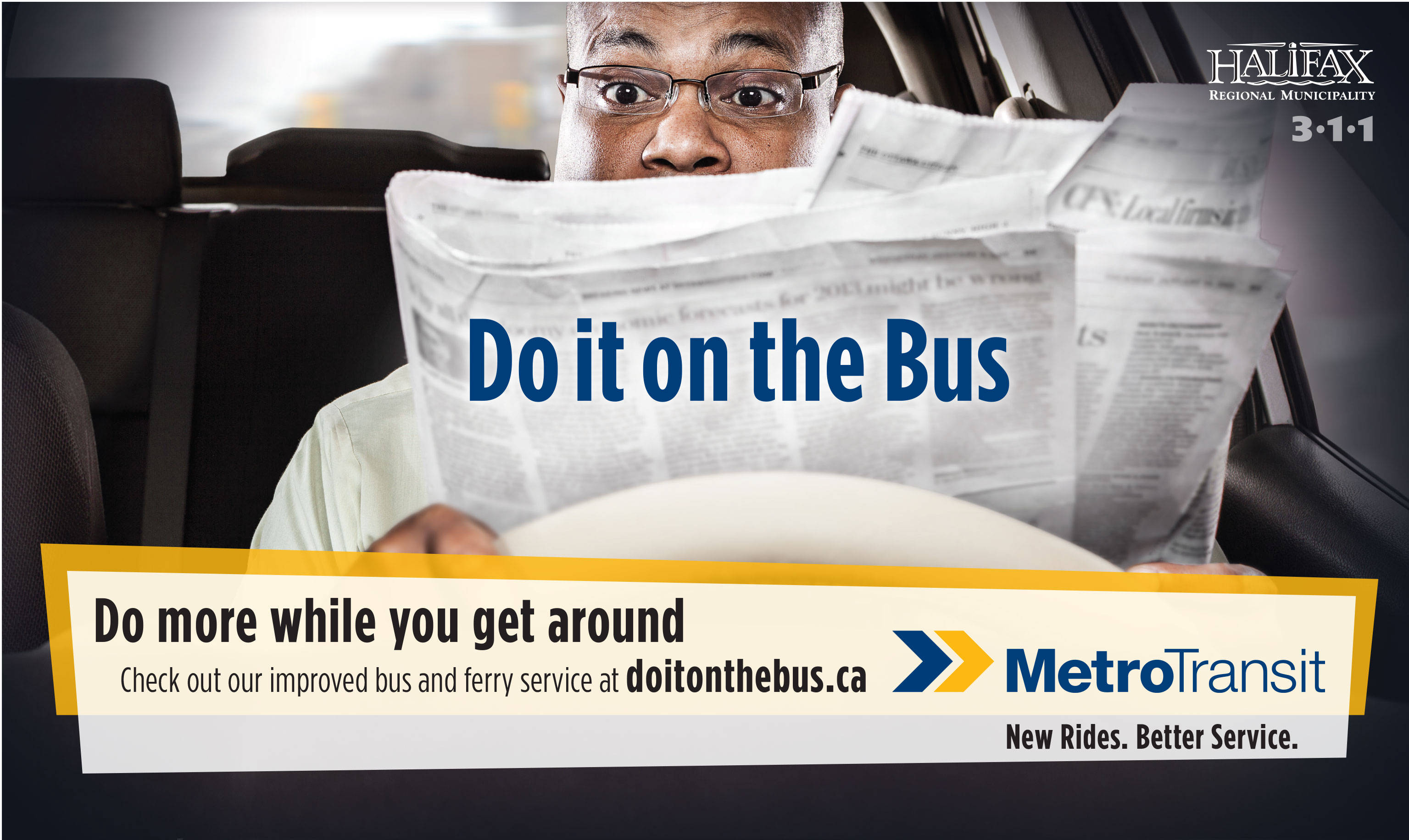 Do it on the bus ad - Transit Marketing