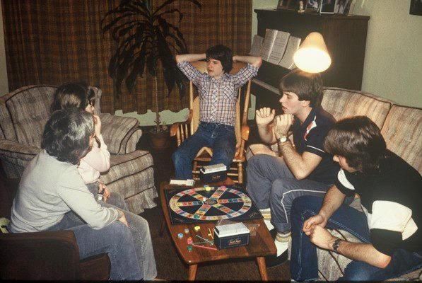 Feature image: Authour playing Trivial Pursuit in the 1980s