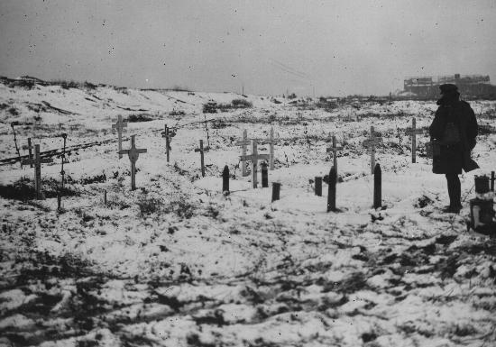 Canadian Cemetery near Vimy Station. December, 1917 (via VAC)