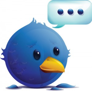 Twitter bird with nothing to say