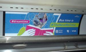 Bus ad: Hashtag dreamtime