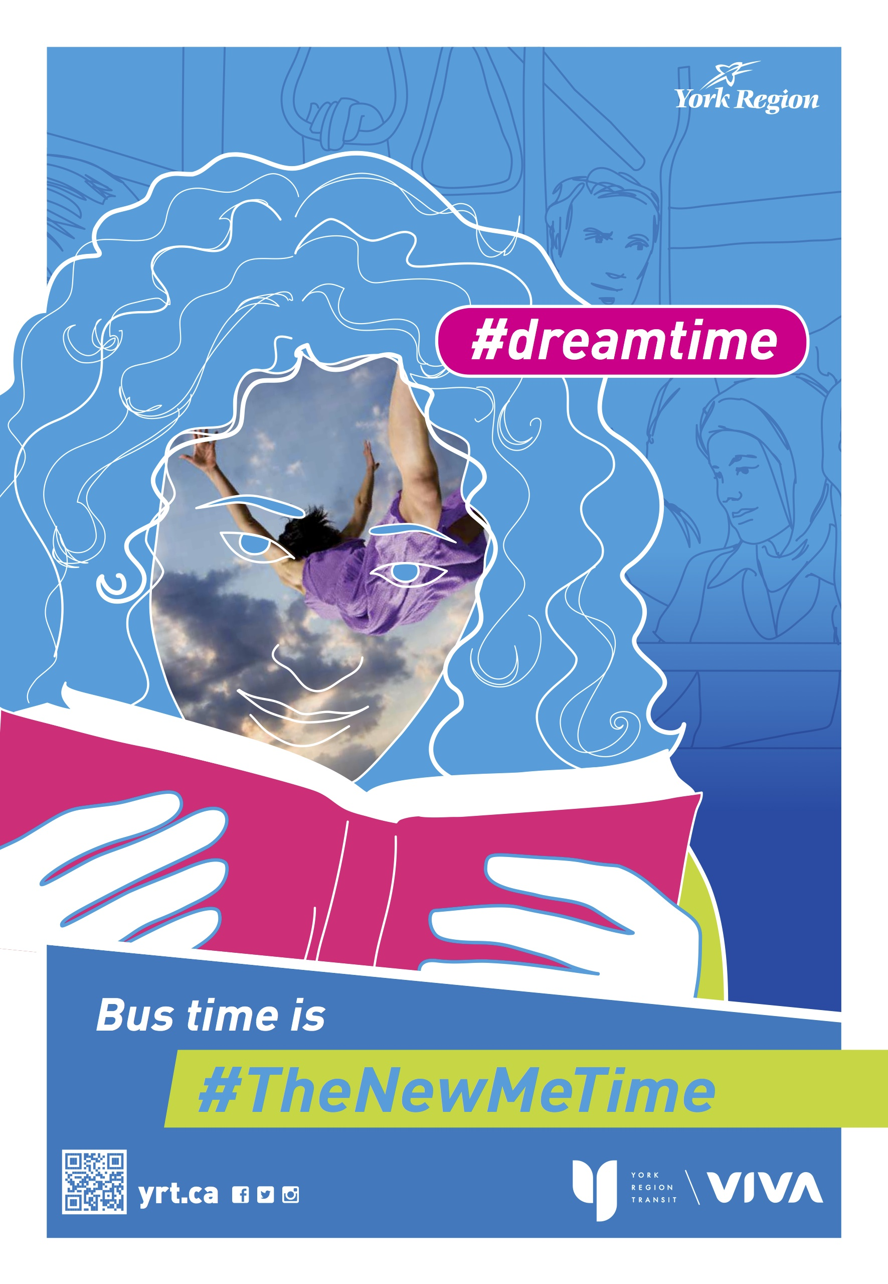 York Region Transit poster - dreamtime: Bus time is the new me time
