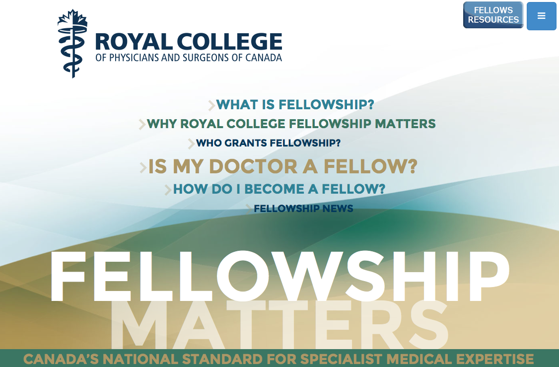 What is Fellowship Landing Page