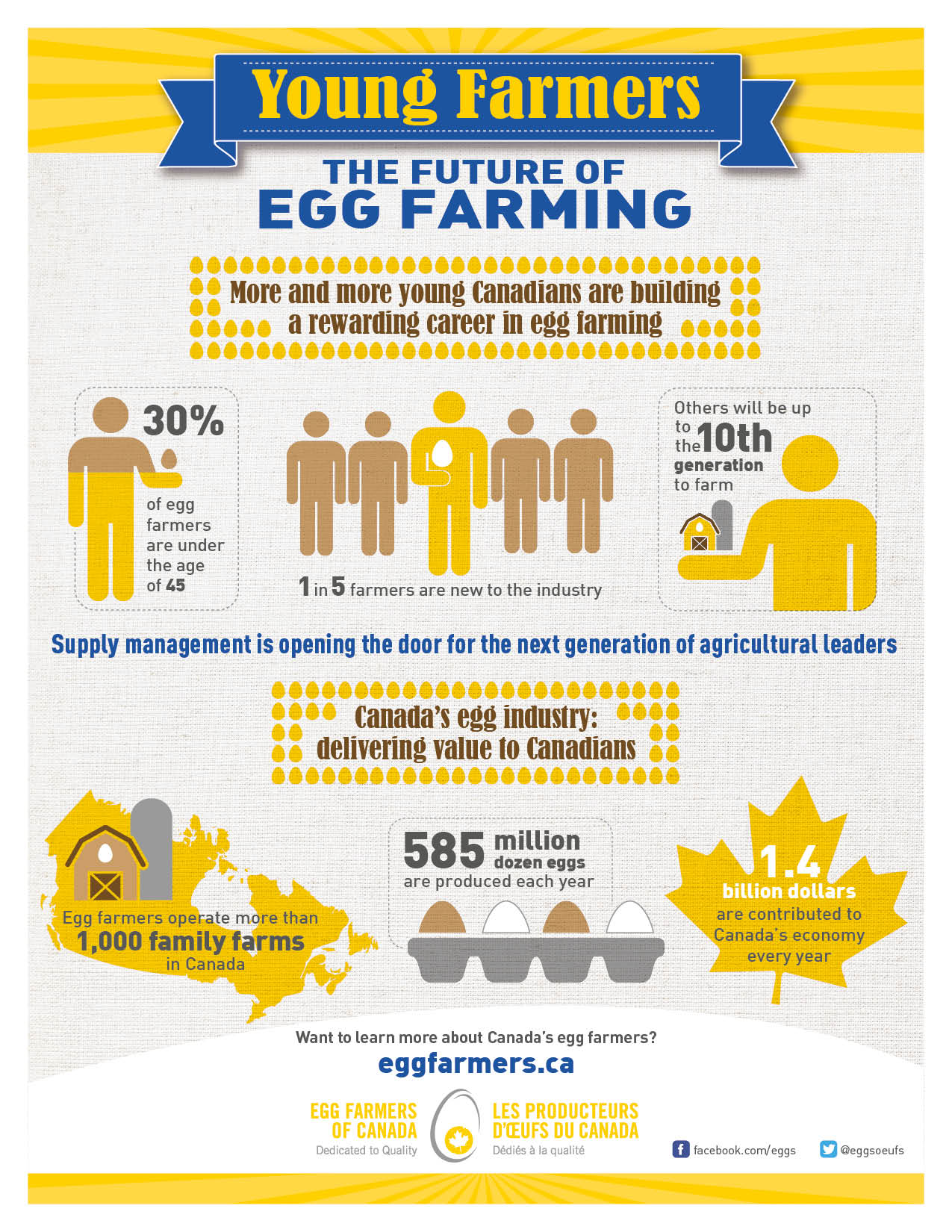 Young Farmers: The Future of Egg Farming Infographic