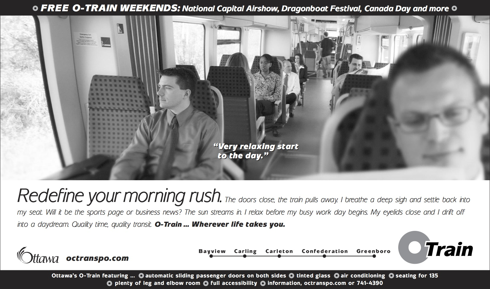 O-Train Commuter ad