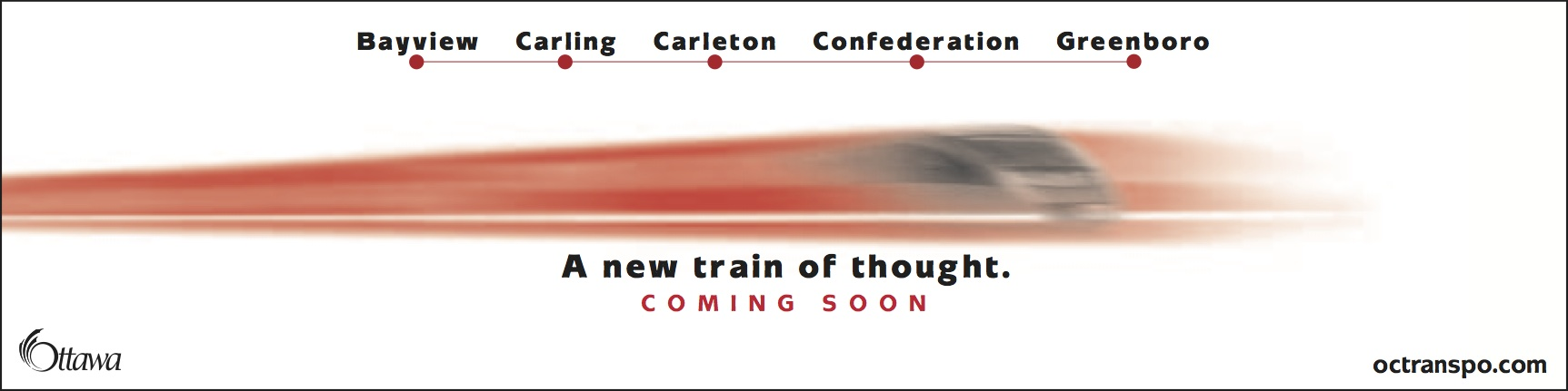 O-Train teaser ad: A new train of thought""