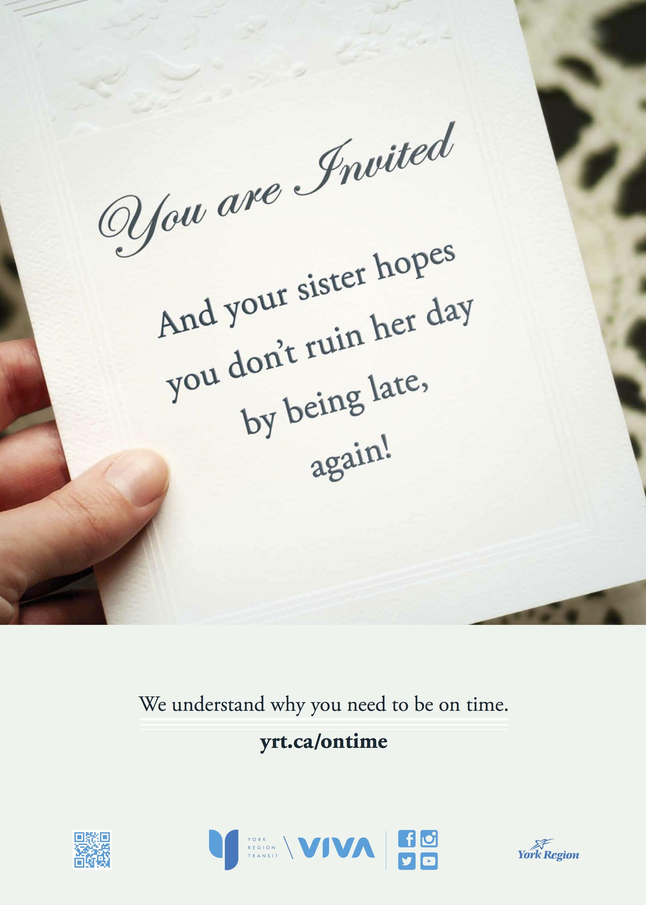 Wedding invitation reads: