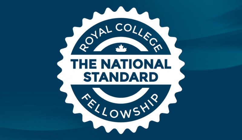 Cover image - a badge we created for the Royal College as part of the Fellowship Matters membership marketing campaign. Image reads: Royal College Fellowship, the national standard