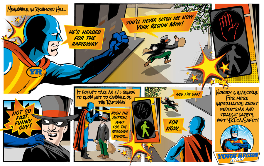 YR Man Comic: Use the crosswalk