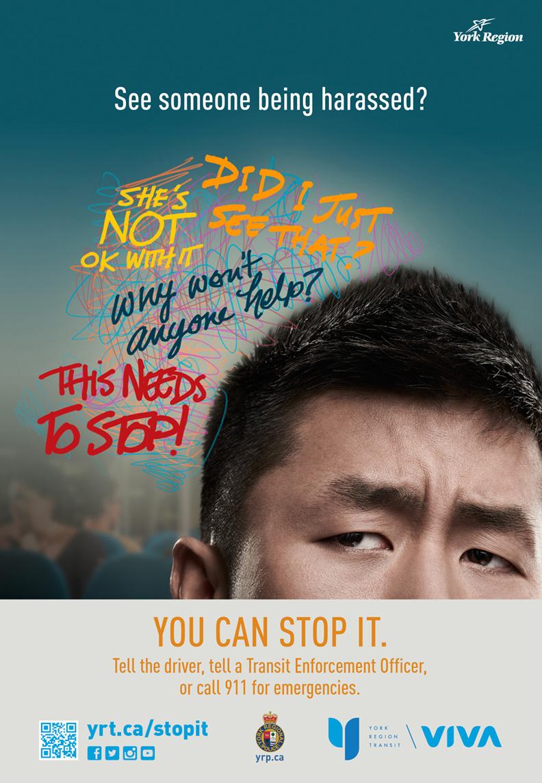 York Region Transit anti-harassment ad 1