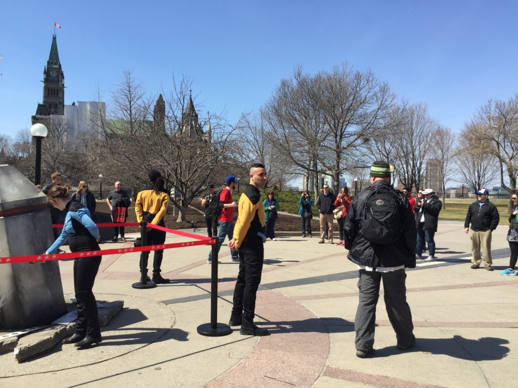 Star Trek experiential marketing installation draws a crowd in Ottawa, Canada