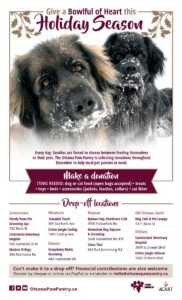 Ottawa Paw Pantry drop-off locations poster