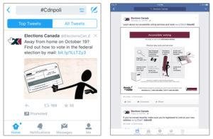 Elections Canada social media