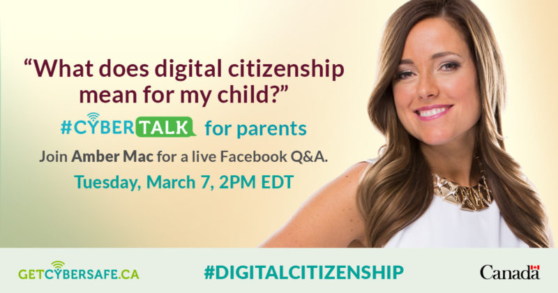 #CyberTalk for Parents on Digital Citizenship banner