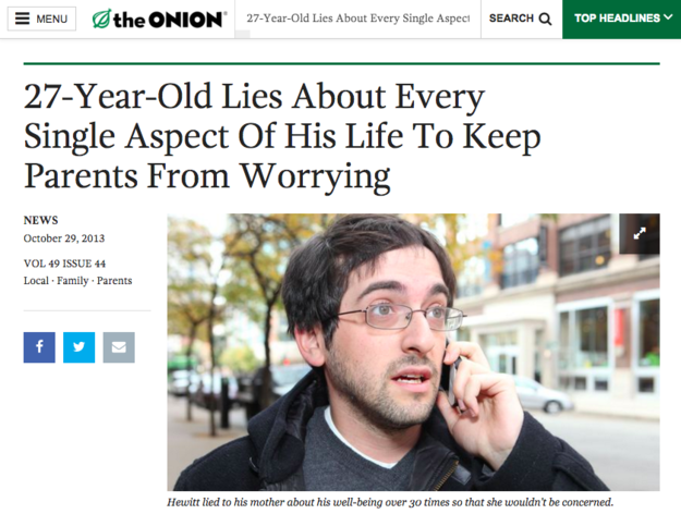 Fake news from The Onion