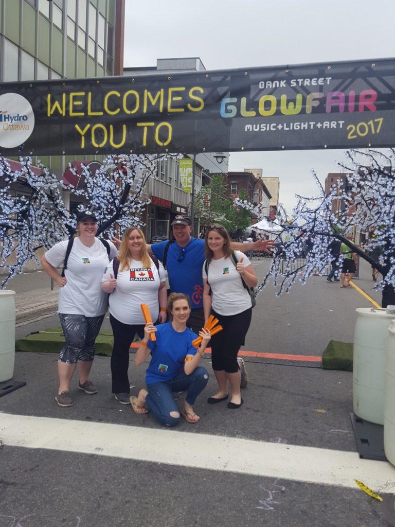 Acart and BikeMaps.org street team members at Glowfair 2017
