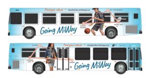 MiWay transit buses