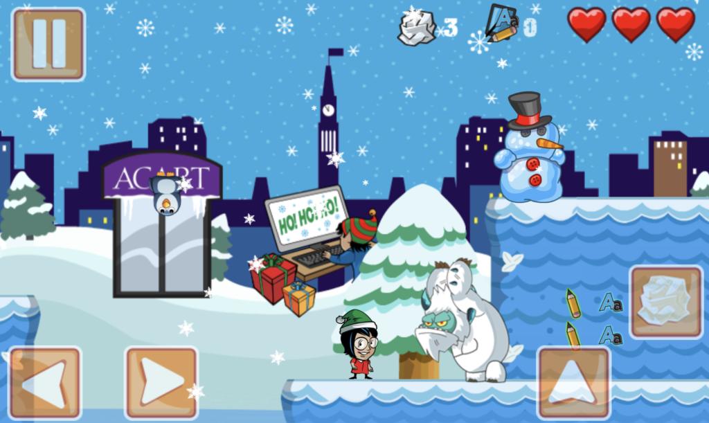 Playing Acart's Christmas Dash