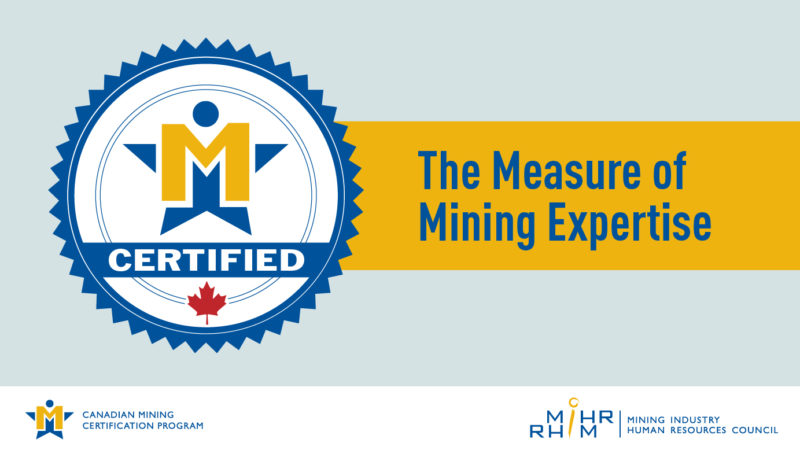 MiHR CMCP Measure of Mining Expertise