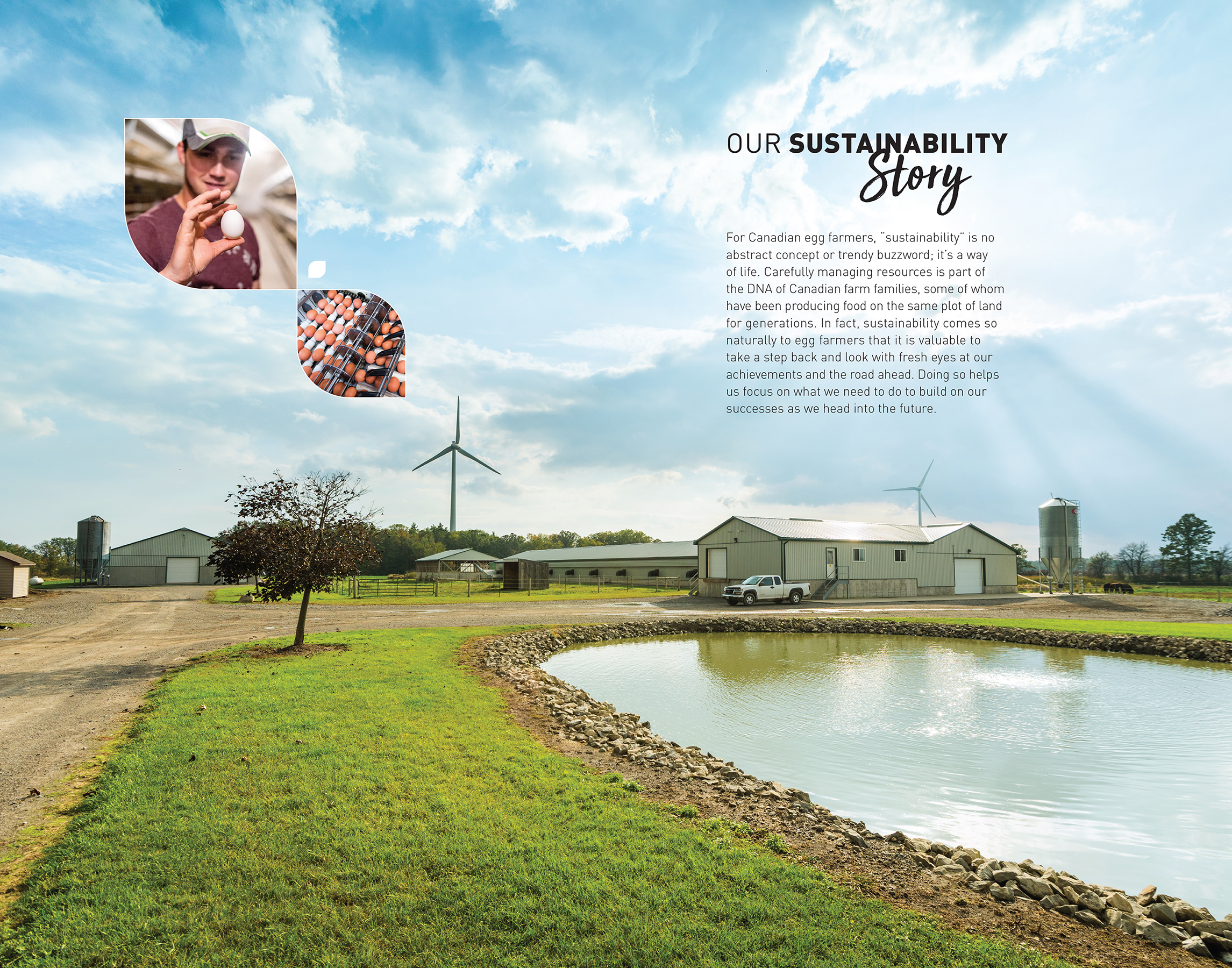 Sample page of Our Sustainability Story