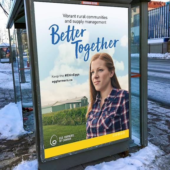 Egg Farmers - Getter Together - Bus Shelter Ad