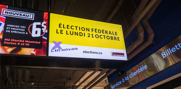 Election Canada - Ad on train station
