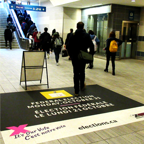 Election Canada - Ad on the floor