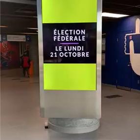 Election Canada - Ad on platform