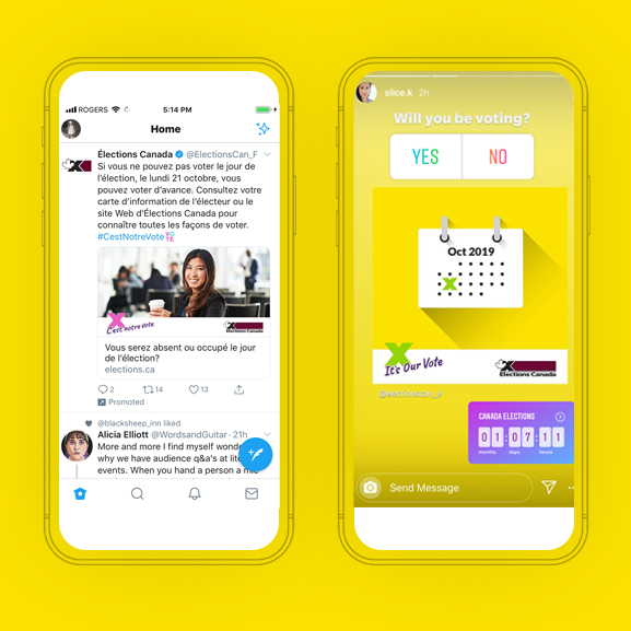 Election Canada - Phone design