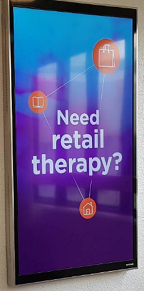 Mi Way - Bus shelter ad (need retail therapy?)